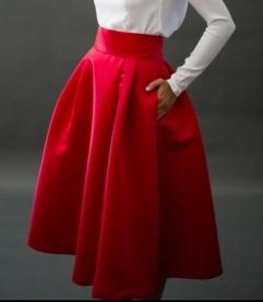 falda-midi-roja